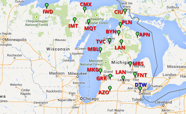 Metro Cab Detroit List Of Airports In Michigan A Airport Cars - Airports in michigan